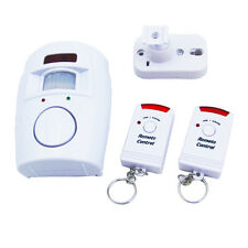 105dB Wireless IR Infrared Remote Security System Motion Detector Alarm
