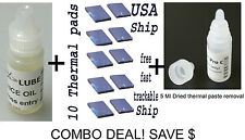 GEEK COMBO DEAL 10 X thermal pads+Fan lubricant +5ml Dried thermal comp remover