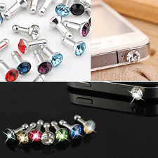 New Crystal Bling Anti Dust Earphone Plug Ear Jack Cap Charm Fr Cell phone 3.5mm