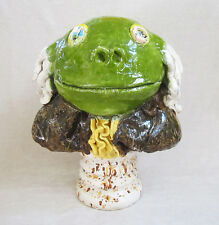 "DAVID GILHOOLY Original c.1975 Large Glazed Ceramic Sculpture - ""Frog Franklin"""