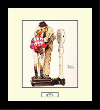 Norman Rockwell WEIGHING IN Framed Jockey Wall Hanging Art Gift