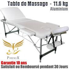 Table de massage Pliable Aluminium - GARANTIE 10 ANS - Légère: 11.6 KG