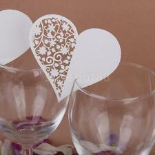 50 Heart Wine Glass Name Place Cards Wedding Baby Shower Party Table Decor