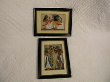 Papyrus Paper Egyptian Art Black Framed Painting Pictures , Egyptian men & women