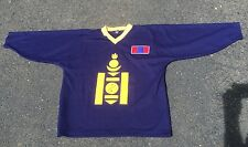 Vintage BANDY Mongolian International  hockey jersey IIHF