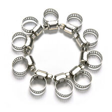 10 Pcs Cars Motorcycle Fuel Line Jubilee Hose Clamp Petrol Pipe Clips 8-12mm
