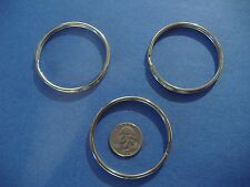 """THREE LARGE LUCKY LINE 2"""" SPLIT KEY RINGS  HIGH QUALITY RINGS"""