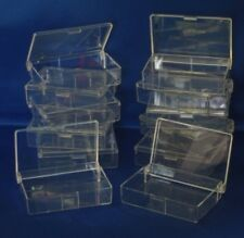12 CLEAR PLASTIC STORAGE BOXES.77 X 54 X 18.  CRAFT. BEADS. JEWELLERY. CRAFTS.