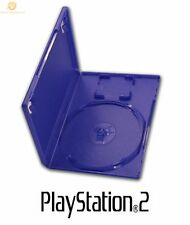 100 Official Original Genuine Playstation 2 PS2 DVD Game Empty Case Blue Cover