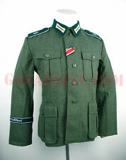 WWII German M36 Field-grey Wool Field Tunic (with GD Division insignia) XL