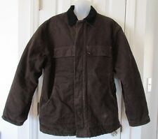 Carhartt Warm Men's XL C26 DKB Dark Brown Arctic Sandstone Quilt Lined Coat