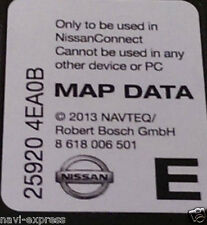 NISSAN CONNECT Navigation SD Card EUROPA 2013 Note, Juke, Qashqai, Micra, Cube…