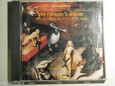 PER CANTARE E SONARE by Ensemble del Riccio CD Musiche Italiane XVI XVII 1990