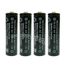 4 x AA 900mAh Ni-Cd NICD Ni-Cad 1.2V rechargeable battery cell/RC Black US Stock