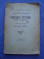 PSICHIATRIA-SAPORITO-PERIZIA SU VINCENZO PATERNO' OMICIDA CONTESSA TRIGONA-1912
