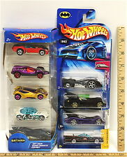 Hot Wheels Batman Lot 9 Batmobiles Diecast 2004 - 2006 No Two Alike New On Card