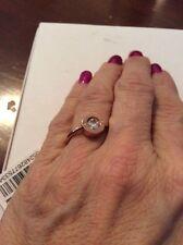 MICHAEL KORS Brilliance Logo Rose Goldtone Crystal Ring Size 8