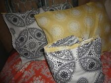 MAX STUDIO BOHO BOHEMIAN GRAY YELLOW BLACK MEDALLION (3PC) DUVET & PILLOW SHAMS