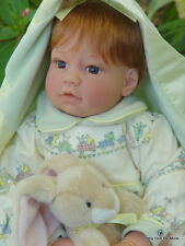 Retired ~ Lee Middleton ~ Cotton Tails Doll ~ with Blanket and Bunny ~ 20""