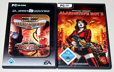 2 PC SPIELE SAMMLUNG - COMMAND & CONQUER - ALARMSTUFE ROT 2 3 YURIS RACHE