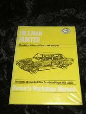 VINTAGE EARLY HAYNES WORKSHOP MANUAL Hillman Hunter 1966 - 70