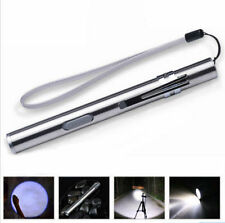 Lamp USB Rechargeable LED 500lm Pocket Cree Flashlight Torch Pen Size Q5