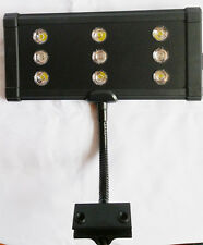9x3W 27W Aquarium Led Clamp on Lighting, 6X10000k + 3X blue led, reef coral NIB