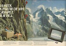 Publicité 1998 ( Double page )  Téléviseur MONOLITH de GRUNDIG