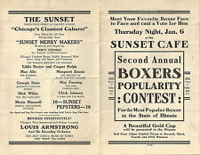 Second Annual BOXERS Popularity Contest, Chicago, Thursday Jan. 6, 1930s