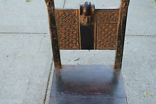 """Arts of Africa - Songye Chief Chair - Congo - 37"""" Height x 18"""" Wide x 17"""" Long"""