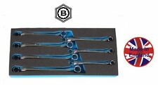 BRITOOL HALLMARK 7PC AF HEX / BI-HEXAGON RING SPANNER WRENCH SET - RHBSET7/TC