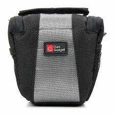 Nylon Carry Bag for Sony Cybershot DSC-W730 in Classic Black + FREE Cleaning Clo