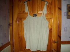*** LOOK** NEW BEIGE DETAILED STRAPPY  TOP  SIZE 24 ***
