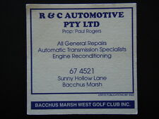 R & C AUTOMOTIVE PTY LTD SUNNY HOLLOW LANE BACCHUS MARSH WEST GOLF CLUB COASTER