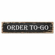 SP0818 ORDER TO GO Street Sign Restaurant Bar Store Shop Cafe Home Chic Decor