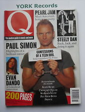 Q MAGAZINE - Issue 86 November 1993 - Sting / Pearl Jam / Paul Simon /Evan Dando