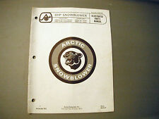 1972 Vintage Arctic Cat 8 HP Snowblower Parts Manual