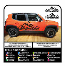 Jeep Renegade Berg Logo Tür Grafik Vinyl Decals Side Aufkleber SUV NEU
