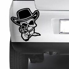 GUN SKULL Car Funny Window Bumper Wall Laptop JDM VW VAG Vinyl Decal Sticker
