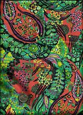 """Glow"" Jolie Print blue peach pea olive green Fabric by Amy Butler for Rowan"