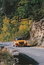 Jean Ragnotti Hand Signed Photo 12x8 Renault Rally 11.