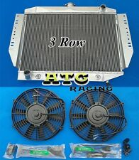 3 Rows ALUMINUM RADIATOR for JEEP CHEROKEE WAGONEER J-SERIES 1972-1979 + 2 FANS