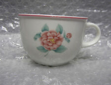 Villeroy and Boch China 0133A Cup with Pink Rose and Plum Color or Mauve Rim