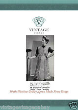 Vintage sewing pattern-make a 1940s wartime utility wrap around apron