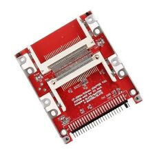 "Doble Cf Compact Flash de 44 Pines IDE 2.5"" Macho Adaptador-Reino Unido Vendedor"