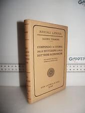 LIBRO Tivaroni COMPENDIO di STORIA delle ISTITUZIONI e DOTTRINE ECONOMICHE 1933