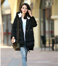Winter pregnant Womens Hooded coat Loose Warm Down cotton Padded zipper Jacket