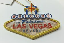 Welcome To Las Vegas Sign Christmas Tree Glitter Ornament Holiday Hanging