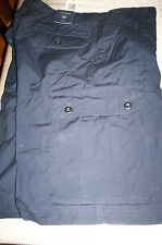 *NWT* CLUB ROOM FLAT  FRONT  CARGO CHINO SHORTS-NAVY BLUE-30