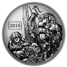 2016 Tokelau 1 oz Silver Year of the Monkey Family (Rev Proof) - SKU #91585